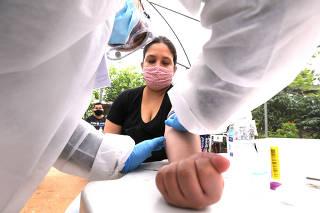 CORONAVIRUS - PANDEMIA - CDHU APLICA TESTE DO COVID-19