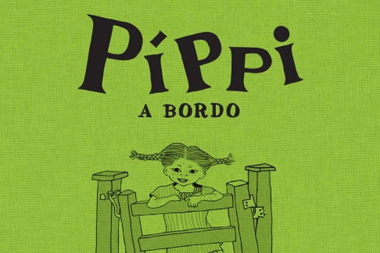 """Capa do livro """"Píppi A Bordo"""", de Astrid Lindgren"""