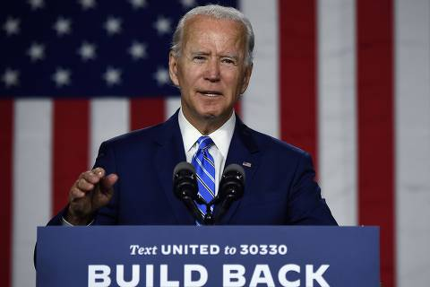 Democratic presidential candidate and former Vice President Joe Biden speaks at a