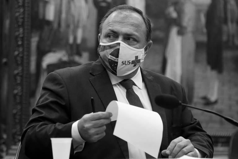 O ministro da Saúde, Eduardo Pazuello, participa de reunião da Comissão Externa de Ações Contra o Coronavírus, da Câmara dos Deputados