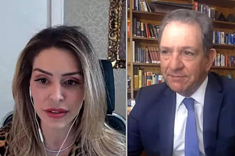 O presidente do STJ, João Otávio de Noronha, participa de videoconferência com a filha Anna Carolina