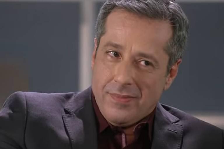 Otávio Martins em As Aventuras de Poliana (SBT) como o vilão Roger