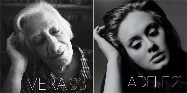 Idosos recriam capas de discos famosos em ensaio fotográfico