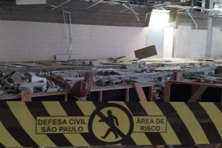O desabamento de uma parede em um hipermercado desativado em Presidente Prudente (a 556 km de São Paulo) causou a morte de quatro operários que trabalhavam em uma obra irregular no local nesta quinta-feira (16)