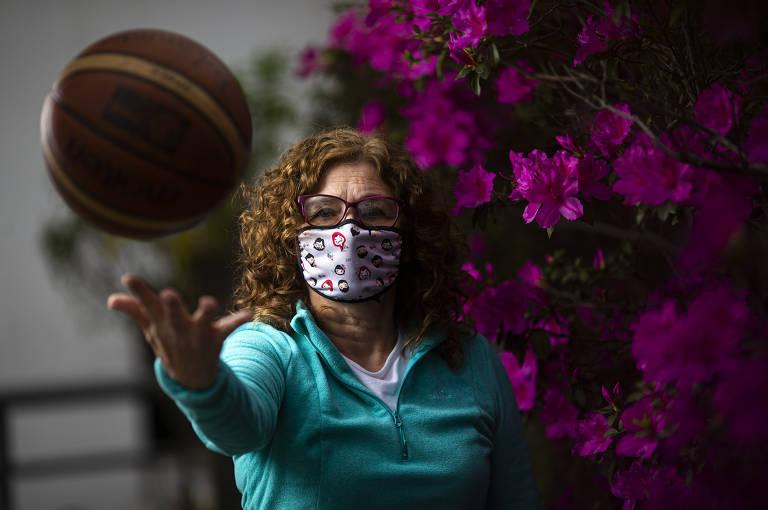 Professora Doriana Barbosa dos Santos durante a quarentena
