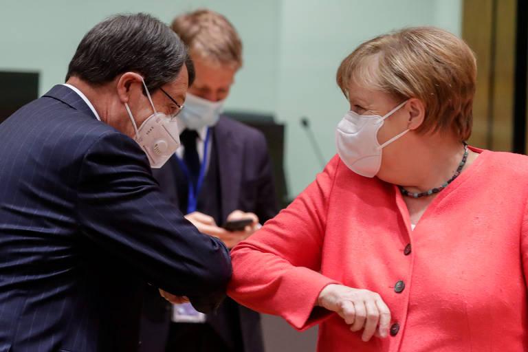 Líderes em primeira reunião presencial da União Europeia desde o início da pandemia