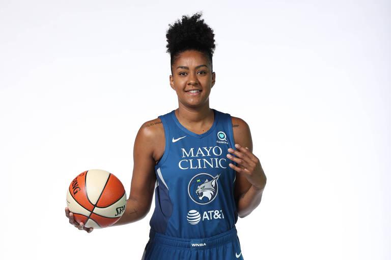Damiris Dantas, pivô da seleção brasileira de basquete feminino e atleta do Minnesota Lynx, da WNBA