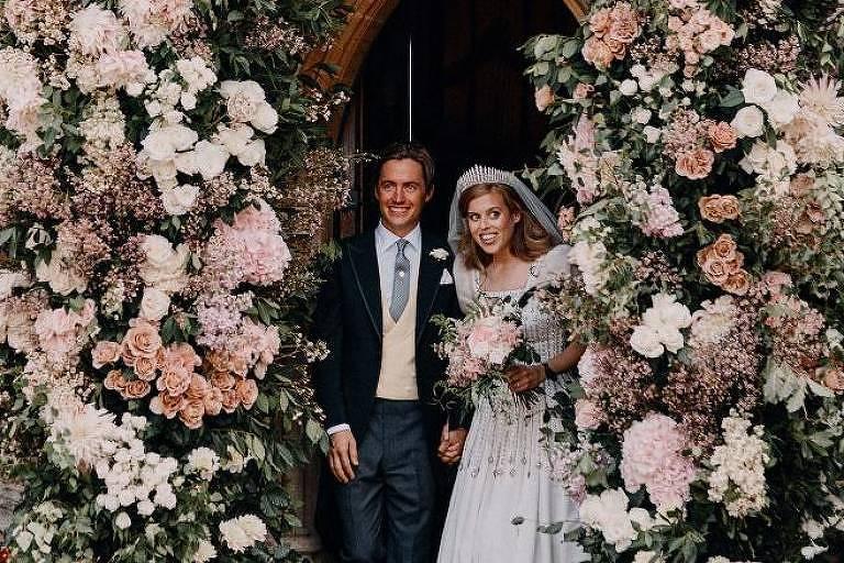 Foto do casamento secreto da princesa Beatrice com milionário italiano