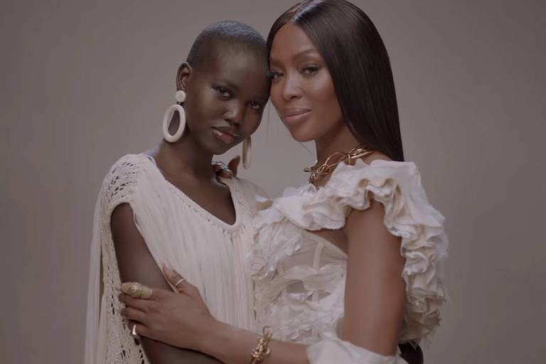 Lupita Nyong'o e Naomi Campbell no trailer de 'Black Is King'