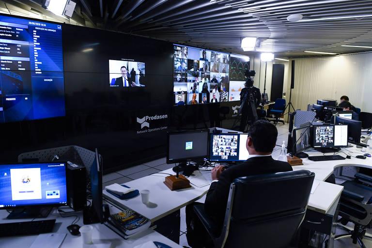 votação do senado por videoconferência