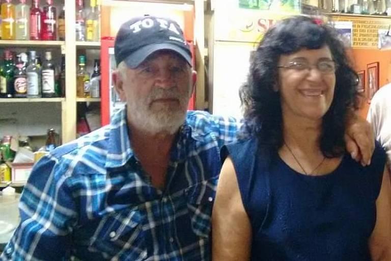 Rose Marie Miziara de Lima (1946-2020) e o marido Dirceu Alves de Lima (já falecido)