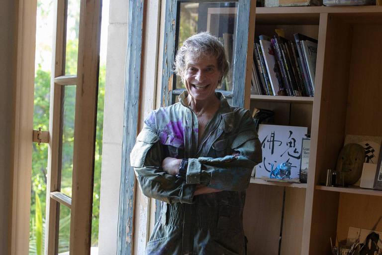 David Lee Roth em sua casa, na Califórnia, em 6 de julho de 2020