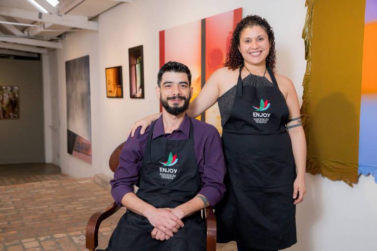 Robert Pereira e Joyce Izauri, do negócio de impacto social em alimentação Enjoy