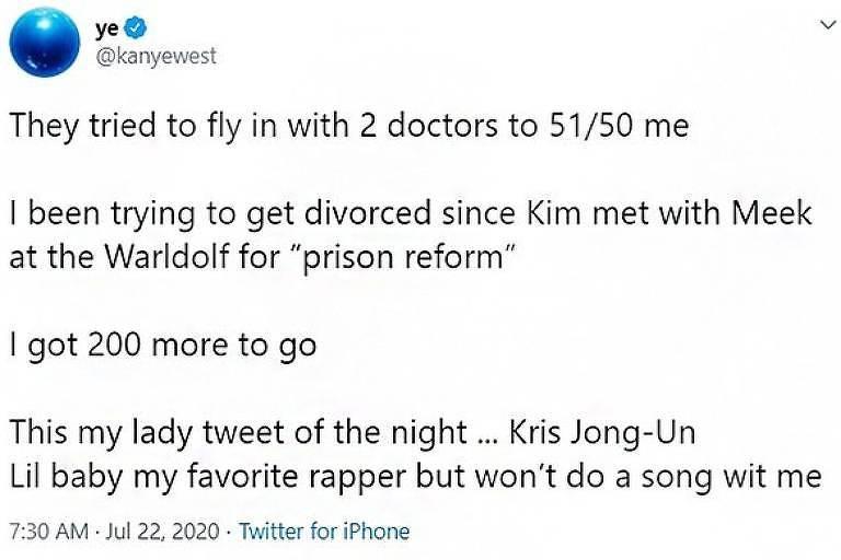 Twitter do rapper Kanye West
