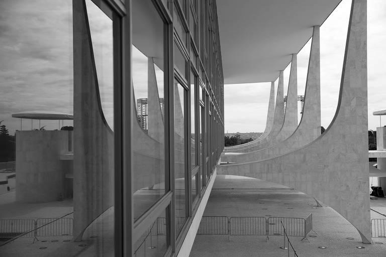 O Palácio do Planalto vazio