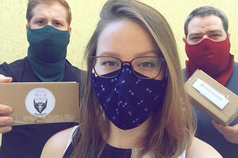 Empreendedores criam máscaras compridas para barbudos