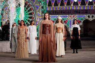 Dior presents Cruise 2021 collection during a live-streamed runway show, in Lecce