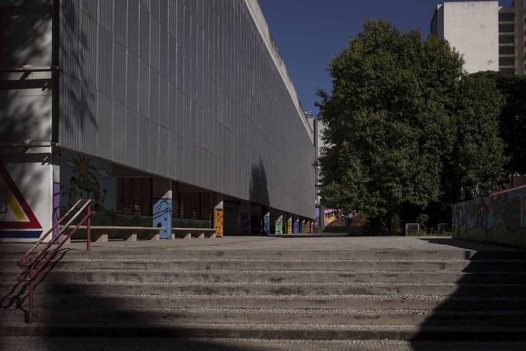 Escola Estadual Prudente de Moraes, no bairro do Bom Retiro.