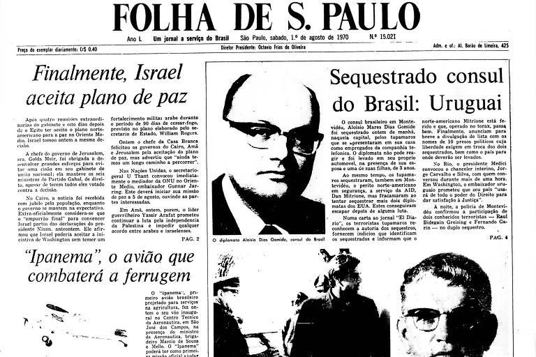 1970: Cônsul brasileiro no Uruguai é sequestrado por guerrilheiros