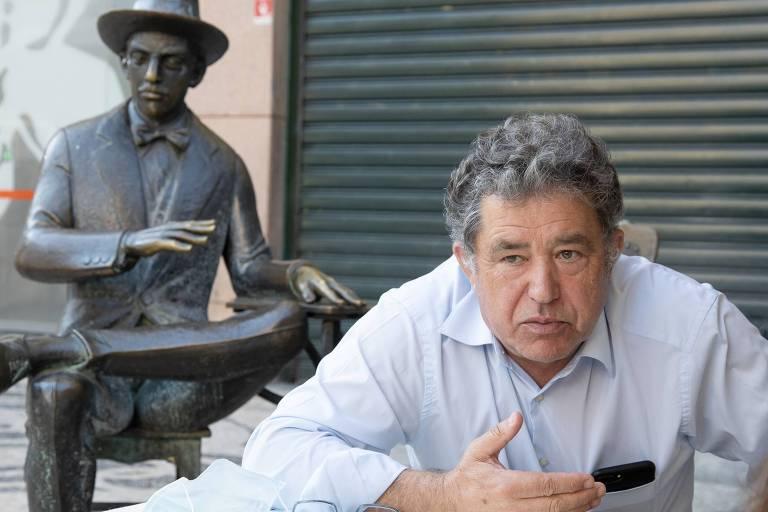 Miguel Anxo Fernández Lores, prefeito da cidade espanhola de Pontevedra, durante entrevista em Lisboa