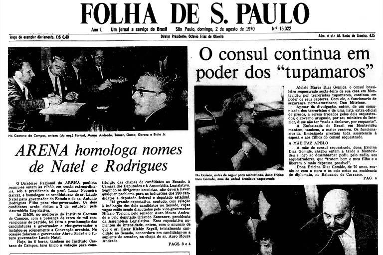 1970: Mãe do cônsul sequestrado vai ao Uruguai e faz apelo por liberdade