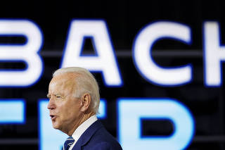 Democratic U.S. presidential candidate Biden unveils coronavirus recovery plan at campaign event in New Castle, Delaware