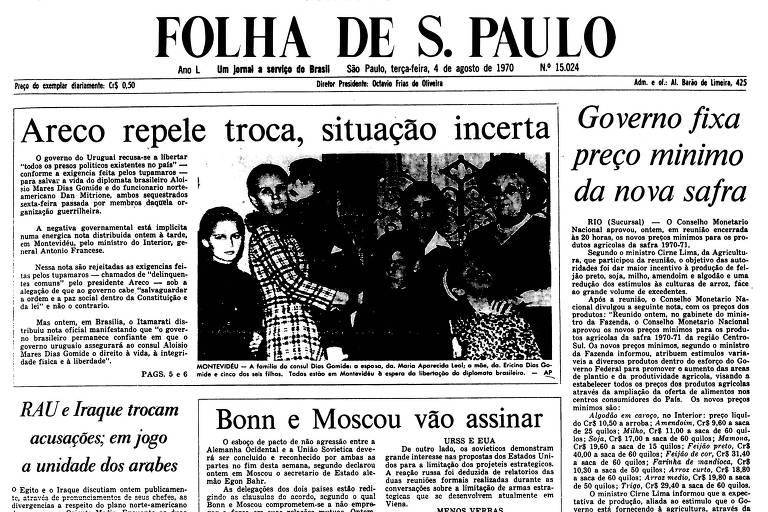 1970: Uruguai recusa exigência para fim do sequestro do cônsul brasileiro
