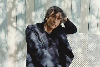 The author Neil Gaiman in Los Angeles.