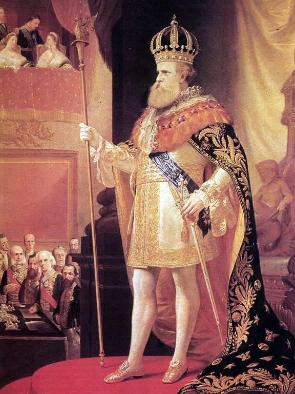 Ilustração do imperador dom Pedro 2º