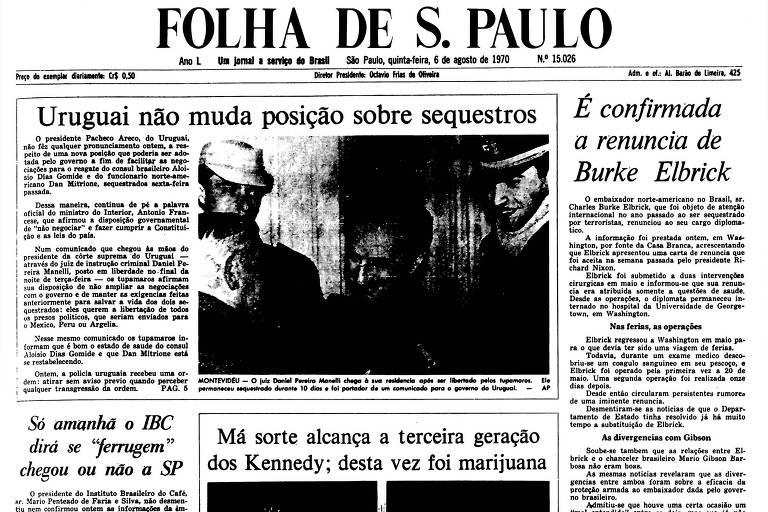 1970: Uruguai mantém posição de não negociar com sequestradores