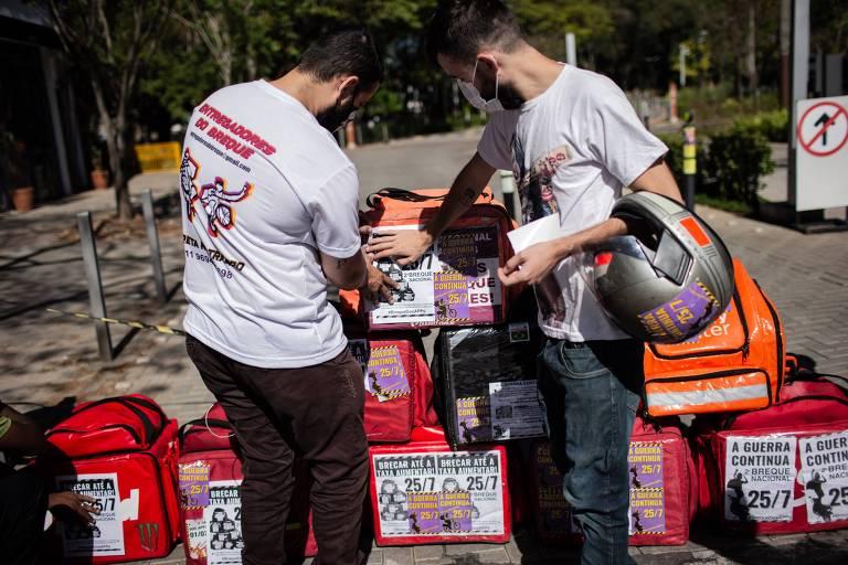 Concentração de motoboys em segundo 'Breque dos Apps' é fraca em São Paulo