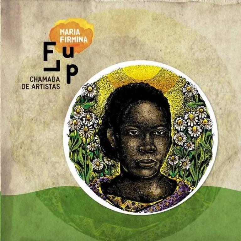 Imagem da obra vencedora de um concurso realizado pela Flup (Festa Literária das Periferias) para recriar o rosto da autora, feita pelo artista é o João Gabriel dos Santos Araújo
