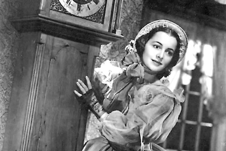 Olivia de Havilland, em 1939, no papel de Melanie Wilkes, personagem de 'E o Vento Levou'