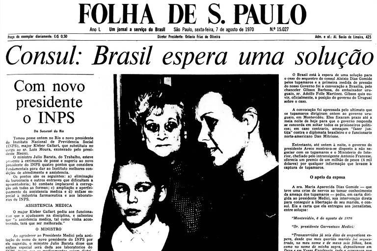 1970: Brasil convoca embaixador em busca de solução para sequestro