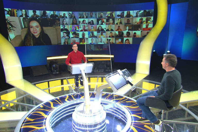 Daniel e Luciano Huck no 'Quem quer ser um milionário?' no programa do dia 25 de julho