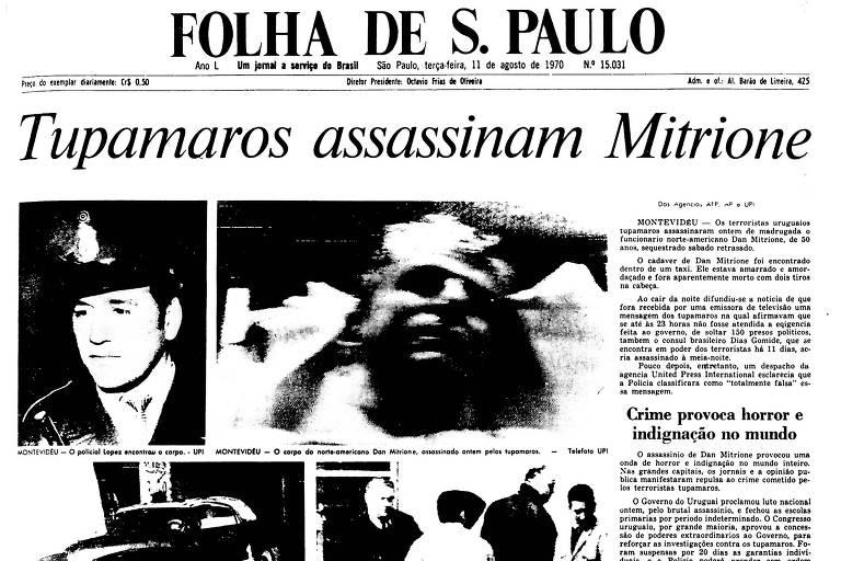 1970: Guerrilheiros matam refém americano após Uruguai não soltar presos