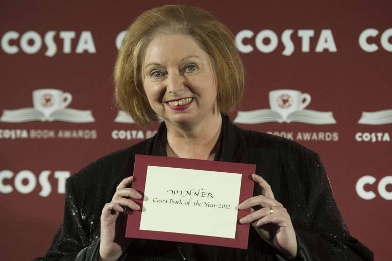 A escritora Hilary Mantel, em prêmio Costa Book Award, em 29 de janeiro de 2013