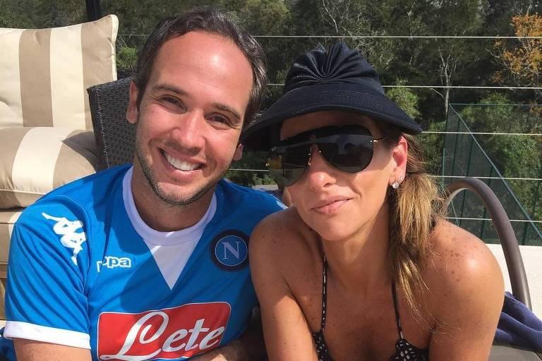 Caio Ribeiro e esposa Renata Leite