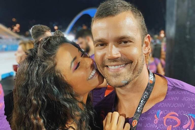 Talita Younan e João Gomez
