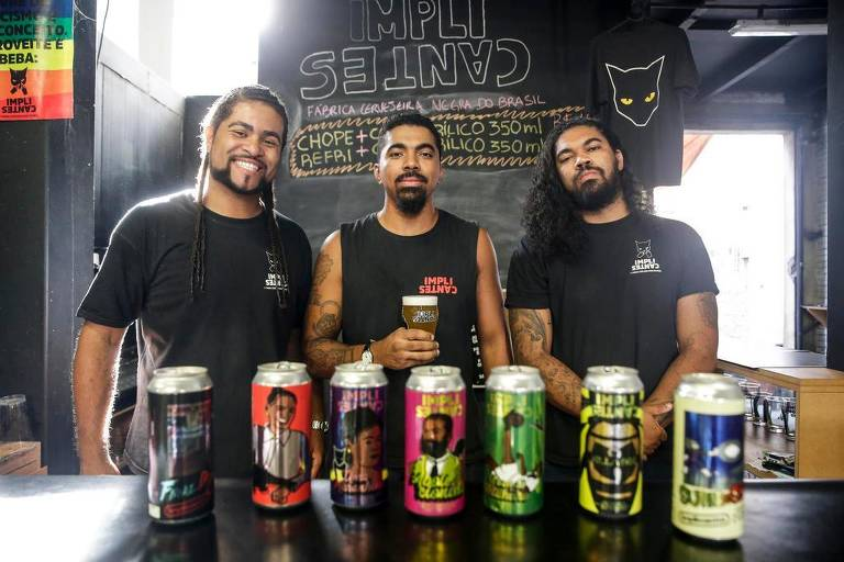Sócios da cervejaria Implicantes