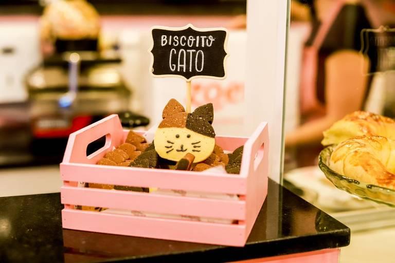 As comidinhas do Gatocafé têm temática felina