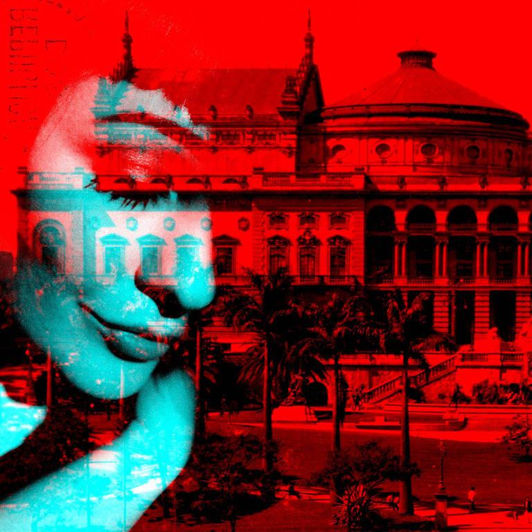 """Capa do áudio drama """"Sarah em São Paulo"""", da Storytel"""