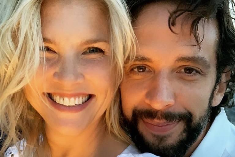 Nick Cordero com a mulher Amanda
