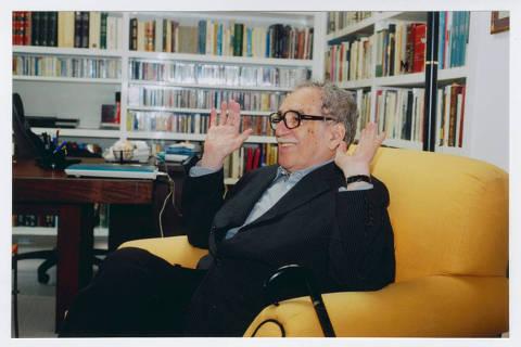 *** LLIT1A***   2006 Os trabalhos de Gabriel García Márquez, autor, jornalista, roteirista e figura-chave na história e política latino-americanas, nascido em Colômbia. Credito Peter Bade /  Harry Ransom Center
