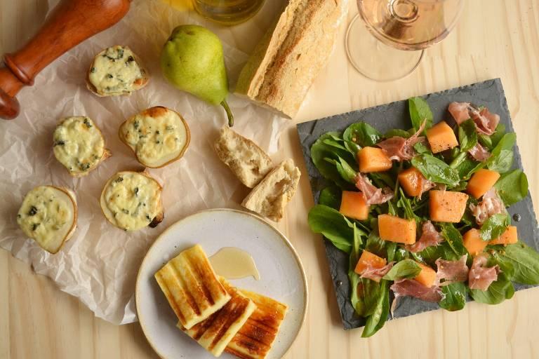 Aprenda a preparar entradas que misturam doce e salgado e são perfeitas para uma happy hour