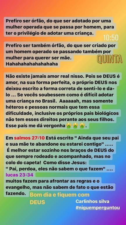 Carlinhos Silva no Instagram
