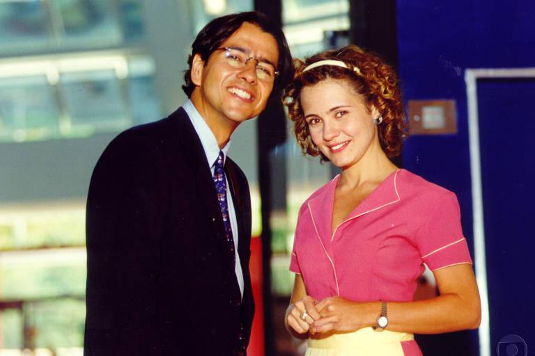 Marcos Palmeira (Alexandre Toledo) e Adriana Esteves (Sandrinha)