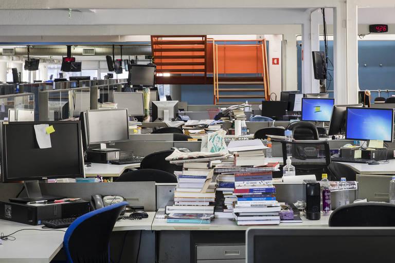 Redação da Folha, no região central da cidade de São Paulo