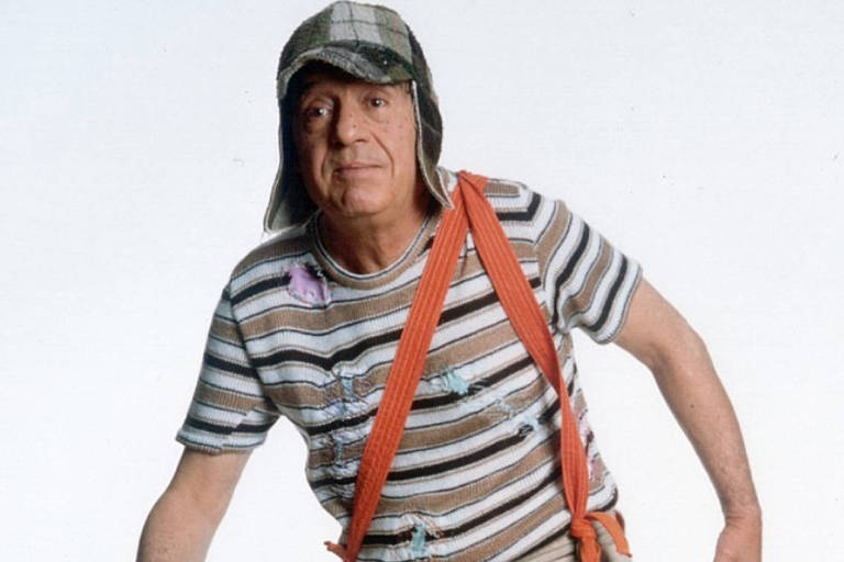 O ator mexicano Roberto Bolaños como personagem Chaves