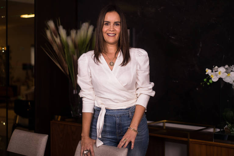 A empresária Flavia Rodrigues Pereira Majela, 45, proprietária da Projjeta Design, no norte de Minas Gerais